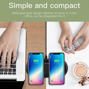 Image 5 - DCAE 20W chargeur sans fil pour iPhone 11 Pro XS XR X 8 AirPods 2 10W double charge rapide Station daccueil USB C pour Samsung S10 S9