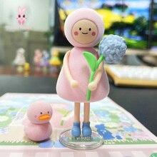 Guess-Bag Toys Blind-Box-Toys Figures Cute Anime Ciega Model Flower-World Caja Birthday-Gift