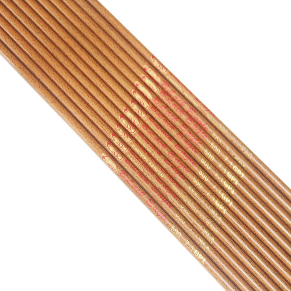600 eixo setas de carbono madeira pele