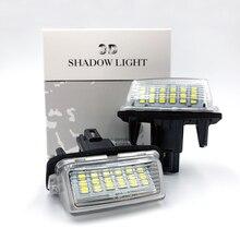 Car LED number License Light For Toyota Camry Plate Lights Number fit For Peugeot Citroen 206 207 306 307 406 407 C3 FOR yaris все цены