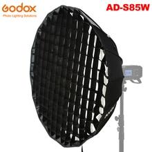 Godox AD S85W Deep Parabolic Softbox 85cm Accessories Honeycomb Grid Godox Mount for Godox AD400Pro Flash Light White Interior