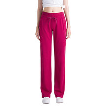 Sexy Mid Waist Wide Leg Flowy Pants Women 2020 NewFemale Trousers Womens Winter plus velvet warm Cotton Loos e Harem Pants OK263(China)