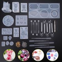 1 Set Silicone Mold DIY Resin Molding Material Kit Bear Bunny Cat Claw Model Epoxy Molds Necklace Pendant Jewelry Making Tool