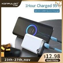 Puissance Bank10000mAH 18W PD Powerbank QC 3.0 Charge rapide affichage Led Portable Micro chargeur de batterie dalimentation pour iPhone12 Xiaomi Huawei