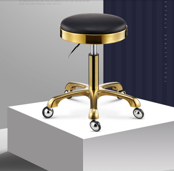 Beauty stool barber's chair swivel lift bench pulley round makeup salon haircut - discount item  26% OFF Commercial Furniture