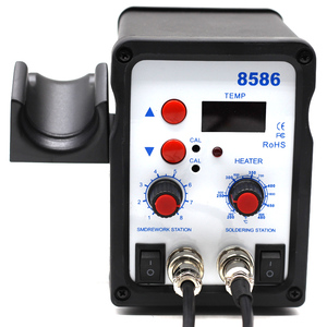 Image 4 - 8586 2 In 1 ESD Hot Air Gun Soldering Station Welding Solder Iron For IC SMD Desoldering vs 858 8858 858D 8858D 8032 8018lcd