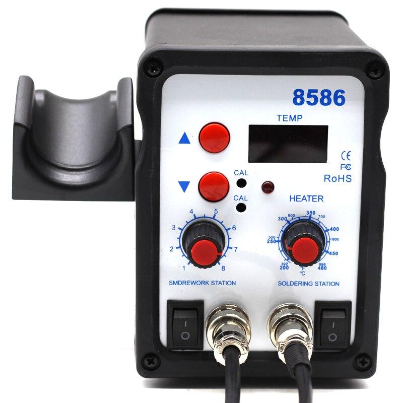 Image 5 - Yarboly 8586 SMD BGA Rework Solder Station Hot Air Blower Heat Gun Hair Dryer Soldering Hairdryer Desoldering Tool-in Heat Guns from Tools