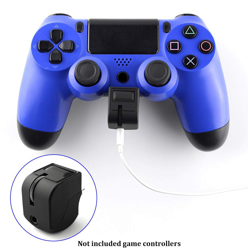 For Headphone Earphone Volume Control Game Accessories Plastic Handle Audio Controller Adapter Headset Mute Switch For PS4 VR image