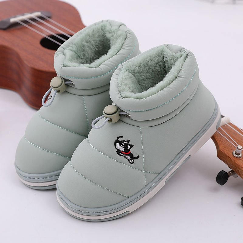 Kids Cotton Boots Children Cotton Boots Plush Ankle Shoes Child Snow Boots Waterproof Non-slip Girls Fashion Cotton-padded Shoes