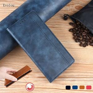 Retro magnetyczny Book klapki skórzane etui do Huawei P40 Lite portfel Slot kart stojak Case dla huawei Nova 7i P40 P30 9A torba telefon