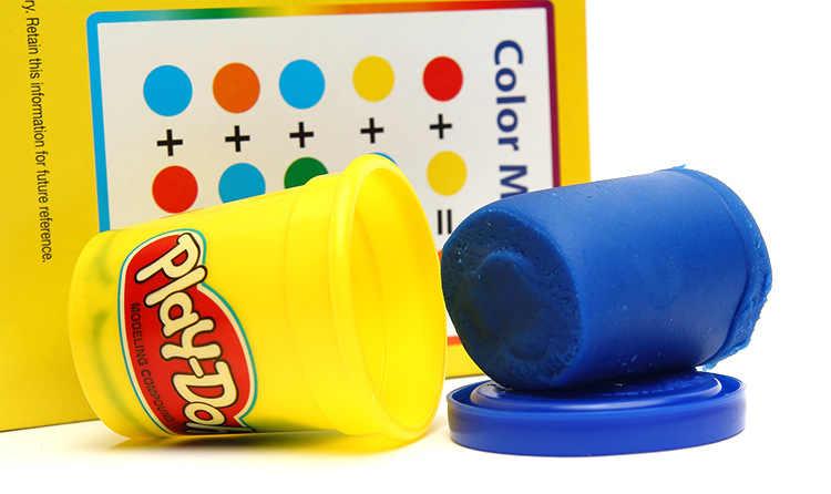 هاسبرو بلاي دوه كلاي لون الطين البلاستيسين كوب من المعجون ألعاب تعليمية قوس قزح 8 ألوان لينة الطين الوحل 1 صندوق عشوائيا