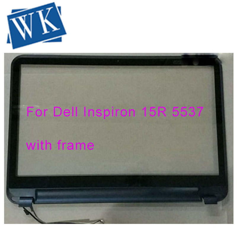 """Original 15.6"""" For Dell Inspiron 15R 3521 Tablet Touch Screen Digitizer Glass With Bezel Frame Hinge Replacement"""