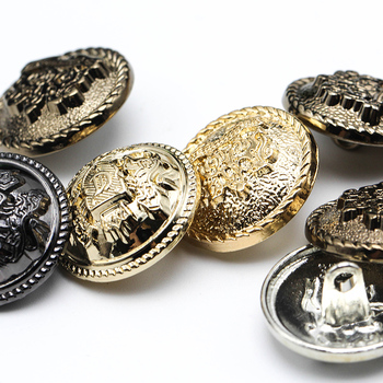 6pcs 10-28 mm golden gold metal buttons garment coat sewing accessories buttons for clothing crafts Black point oil button high grade metal gold silver imitation pearl buttons jacket shirt metal buttons sweater coat overcoat button