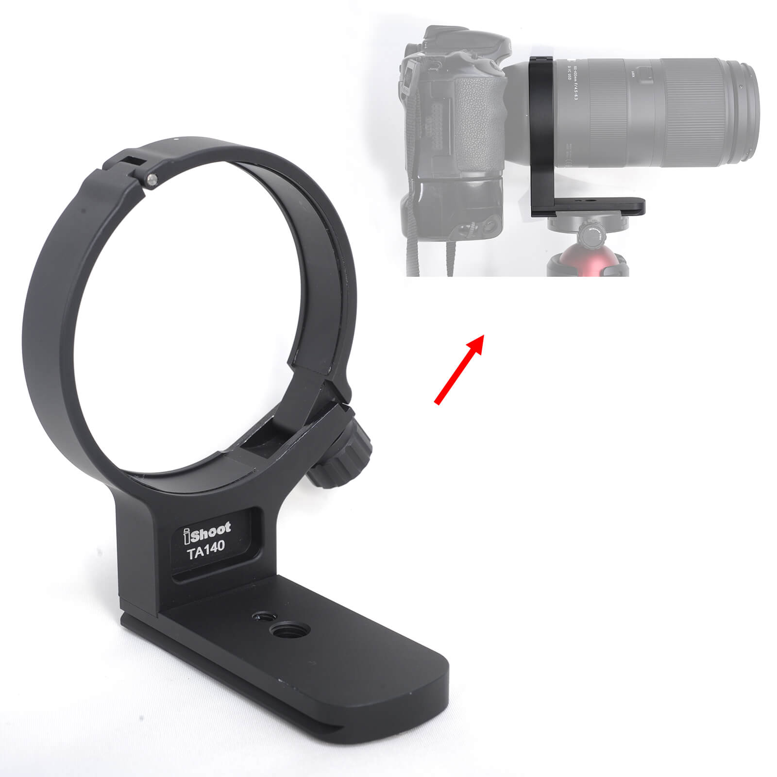Lens Collar Support Tripod Mount Ring for Tamron 100 400mm f/4.5 6.3 Di VC USD (A035) Bottom is ARCA Fit Quick Release Plate