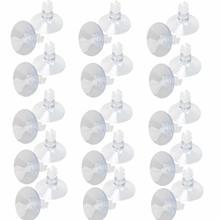 30 PCS Clear Aquarium Sucker Suction Cups for Fish Tank Ultra Silent Oxygen Air Pump Airline Tubing Holder Aquarium Accessories