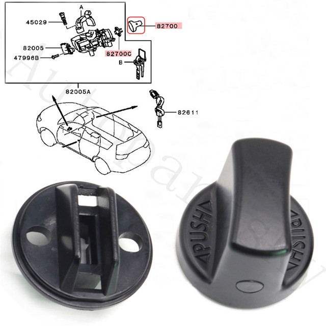 [ From USA to USA ] Ignition Key Start Knob & Insert Switch Base 4408A167 4408A031 for Mitsubishi Lancer / Outlander Repair Part