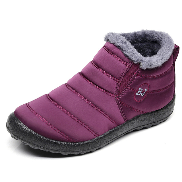 Men Boots Lightweight Winter Shoes For Men Snow Boots Waterproof Winter Footwear Plus Size 47 Slip On Unisex Ankle Winter Boots 2