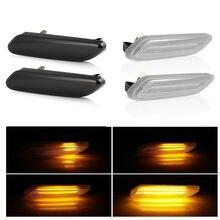 2 قطعة Led ديناميكية الجانب ماركر بدوره مصباح إشارة متسلسل الوامض مصابيح لسيارة BMW ل ميني كوبر R60 مواطنه R61 PACEMAN