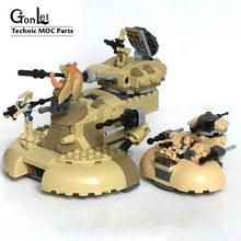 MOC-10371 aat tanque moc blocos de construção tijolos diy brinquedos para crianças jogo arma modelo compatível com star plan wars