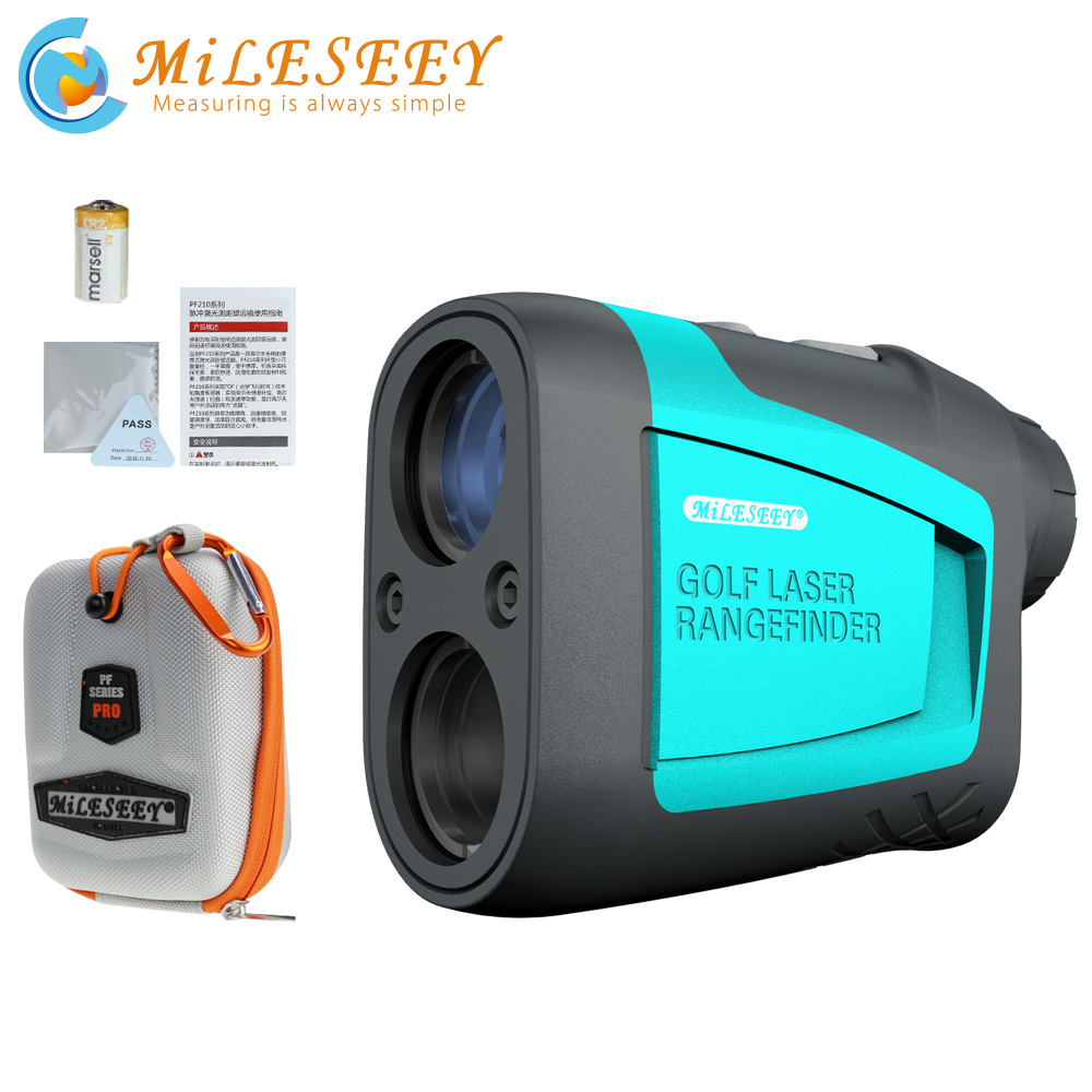 Mileseey PF210 600M Golf Laser Rangefinder Mini  Golf Slope Adjusted Mode Sport Laser Distance M