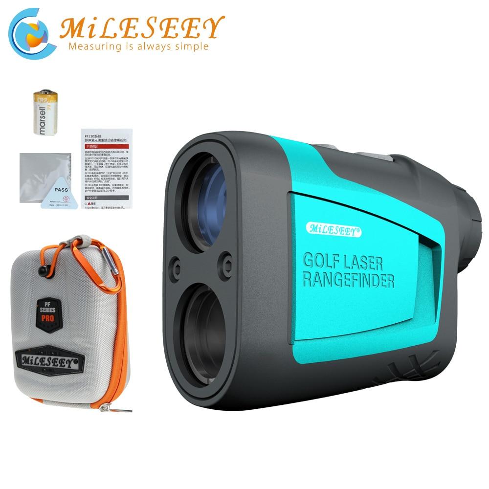 Aletler'ten Lazer Telemetreleri'de Mileseey PF210 600M Golf lazer menzil ölçer Mini Golf eğim ayarlanabilir modu spor lazer mesafe ölçer telemetre