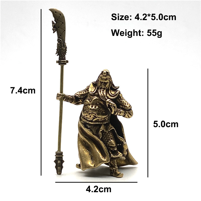 Brass Guangong Figurines (6)
