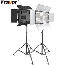 ترافور الفيديو الضوئي المهنية التصوير مصباح ليد مع ترايبود 2 مجموعة عكس الضوء 5600K ل يوتيوب استوديو التصوير الفوتوغرافي الإضاءة