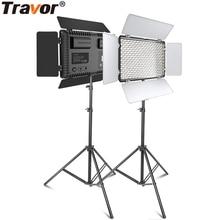 Travor וידאו אור צילום מקצועי LED אור עם חצובה 2 סט dimmable 5600K עבור youtube סטודיו photographc תאורה