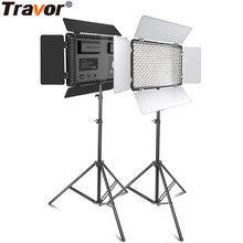 Travorプロフェッショナル写真のledライト三脚 2 セット調光対応 5600 18k youtubeのスタジオphotographc照明