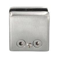 4 pçs de aço inoxidável quadrado braçadeira suporte clipe para prateleira de vidro corrimãos prata|Braçadeiras de vidro| |  -