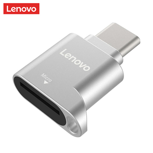 Lenovo D201 USB Type C Card Reader 480Mbps USB-C TF Micro SD OTG Adapter Card Reader Type-C Memory Cardreader For Laptop Phone