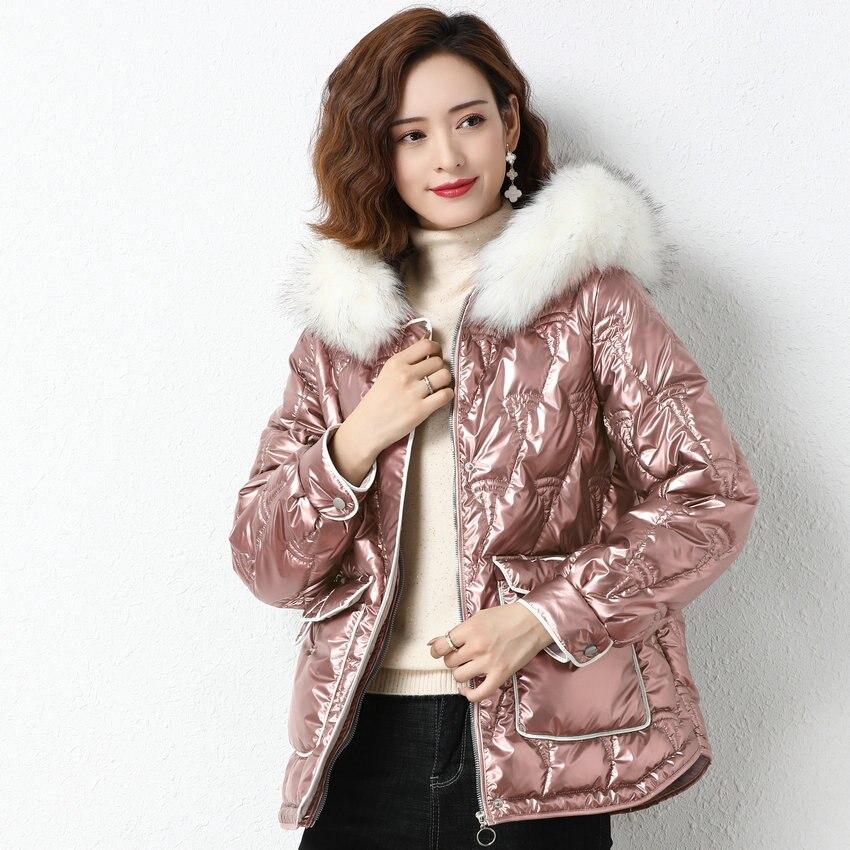 Купить модная белая меховая парка с капюшоном зимняя корейская куртка