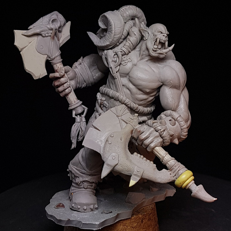 <font><b>1/24</b></font> <font><b>75mm</b></font> <font><b>Resin</b></font> <font><b>model</b></font> <font><b>kits</b></font> Orc warrior Unpainted R170G image