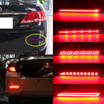 MZORANGE 1 Pair Rear Bumper Light For Toyota Camry 2006 - 2014 RAV4 2019 2020 LED Reflector Lamp Fog