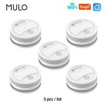 MULO Tuya Smoke Detector Compatible Alarm System Wifi Smoke Sensor Fro Smart Home Fire Protection Smart Life APP