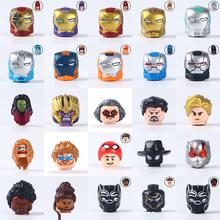 Seria Marvel Avengers figurka głowy bloki Iron Man kapitan ameryka Thanos Thor klocki dla dzieci zabawki dla dzieci tanie tanio World Minifigs Unisex 6 lat Mały budynek blok (kompatybilne z Lego) Certyfikat WM706 WM788 WM447 WM657 WM661 WM699 WM700 WM701 WM717 WM718 WM720