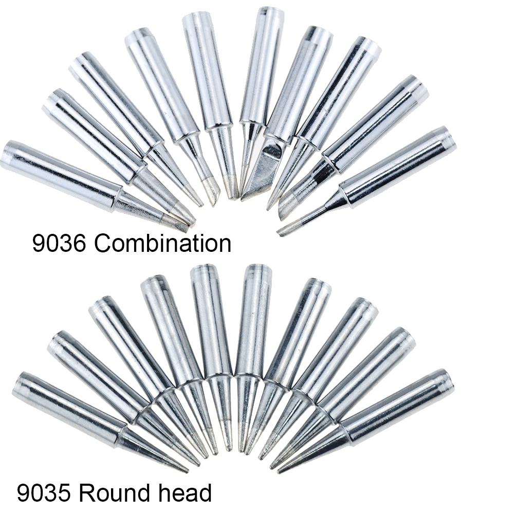 10PCS <font><b>900M</b></font>-<font><b>T</b></font>-I Electric Soldering Iron Tip For 936 937 For Constant Temperature Soldering Iron Head 1.2D,1.6D,2.4D,3.2D,2C,3C,<font><b>4C</b></font> image