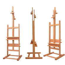 Solid Wood Easel Folding Art Oil Paint Sketch Lift Easel Advertising Display Stand Caballete De Pintura Painting Accessories
