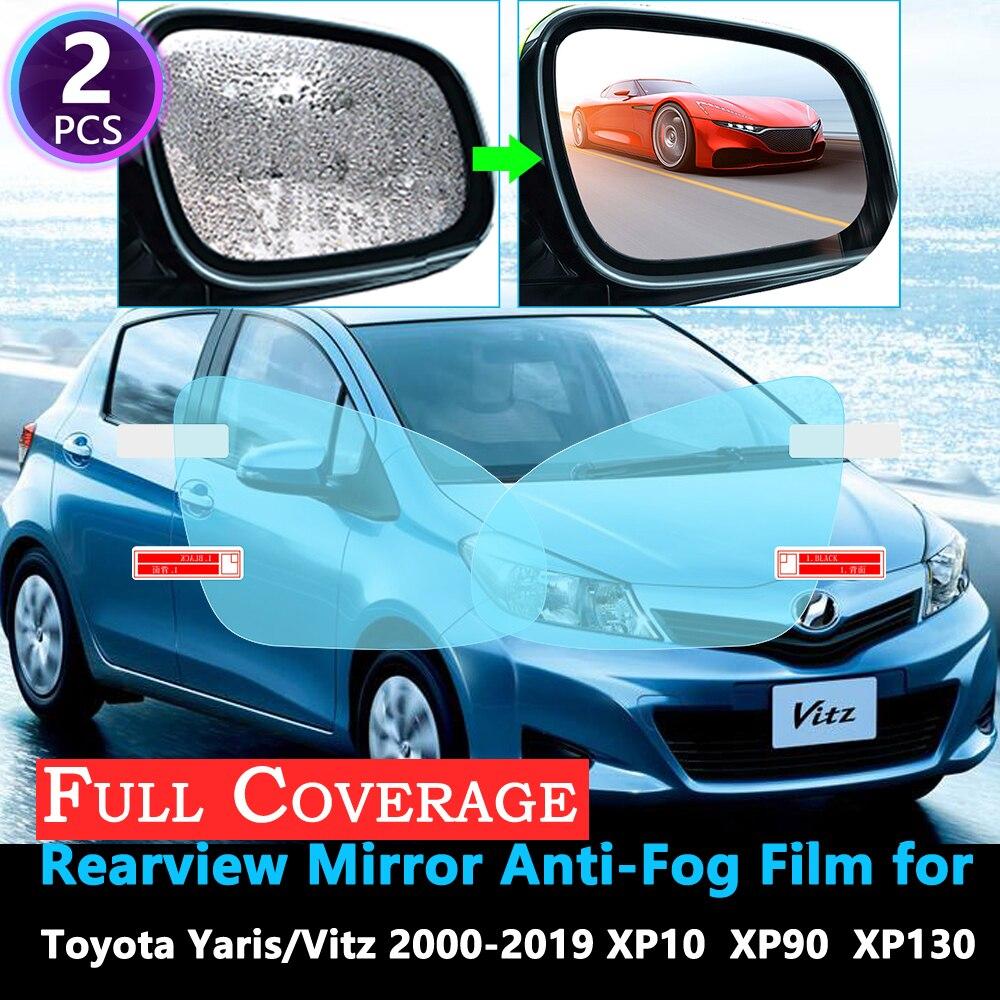 Full Cover Protective Film For Toyota Yaris Vitz XP10 XP90 XP130 10 90 130 2000~2019 Car Rearview Mirror Rainproof Anti-Fog Film