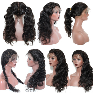 Image 3 - Full Lace Human Hair Wigs Glueless Full Lace Wig Pre Plucked With Baby Hair Brazilian Body Wave 150 180 250 Density Remy You May