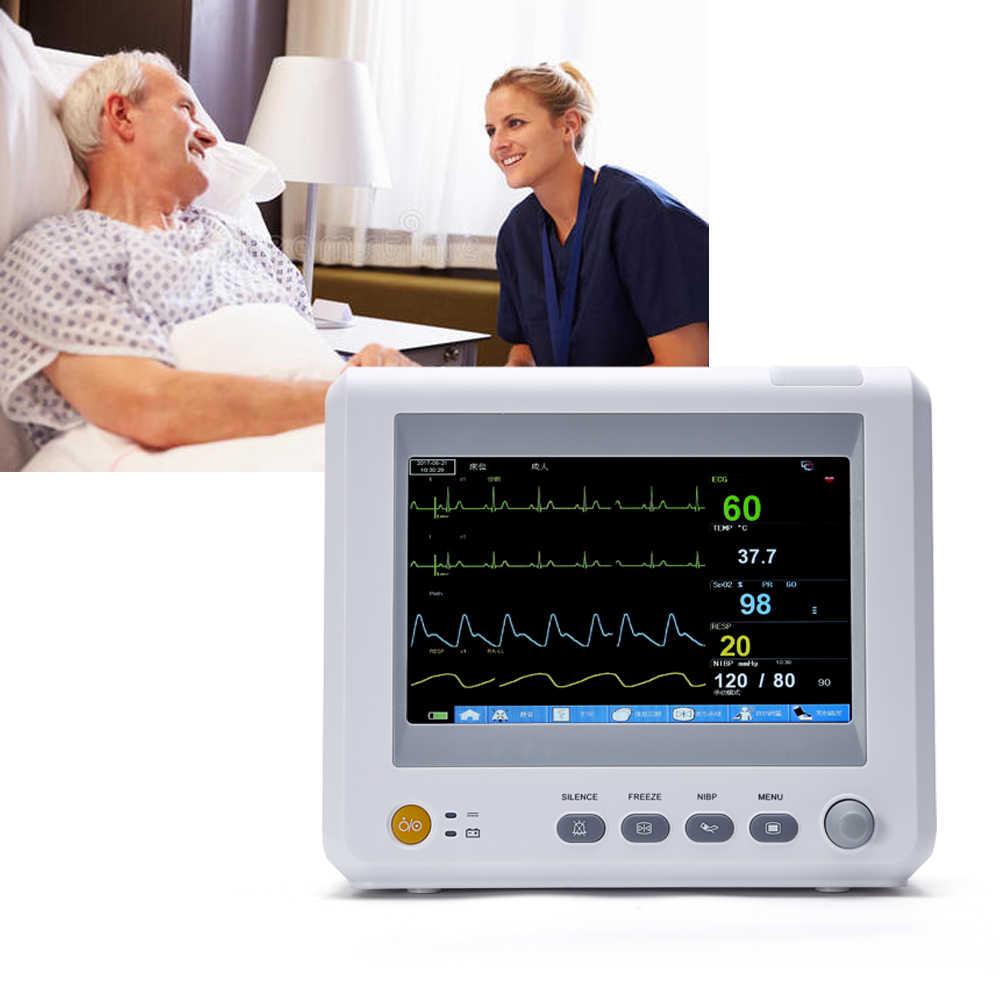 لودوم M7 7 بوصة وحدة العناية المركزة مراقبة المريض علامة حيوية 6 المعلمات NIBP ، Spo2 ، العلاقات العامة ، ECG ، RESP ، درجة الحرارة مراقبة المريض معدات طبية