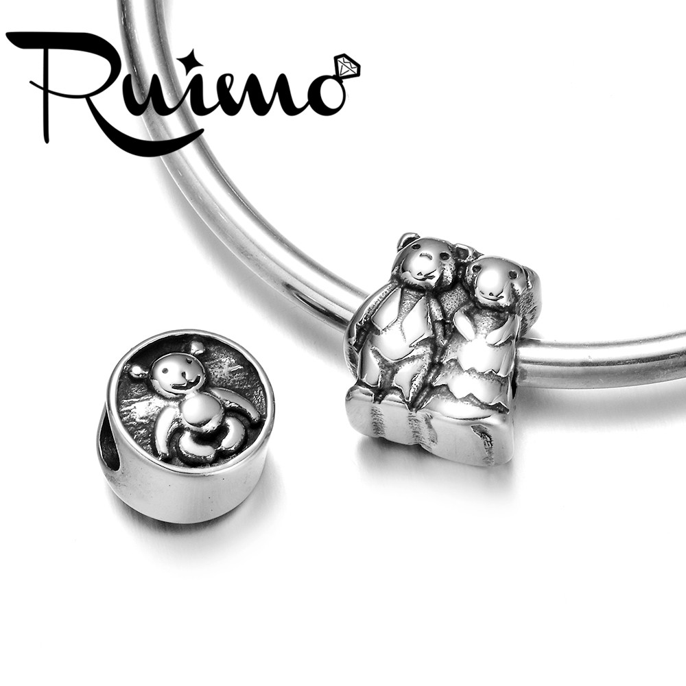 Chinese Golden Rutile Handmade European Bracelet Fit Charm Big Hole Beads Large Hole Beads-14x8mm 5mm Hole 5 Piece