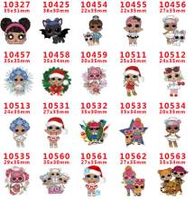 500 style Cute Cartoon Christmas princess Girl Resin Planar Cabochons Baby Girl Resin Flat Back DIY Hair Bow Handmade Materials(China)