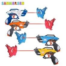 적외선 레이저 태그 전기 조명 장난감 총 블래스터 레이저 전투 세트 어린이를위한 부모 자녀 상호 작용 게임 성인 스포츠 총