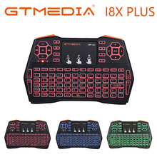 Russian Mini i8X Plus Wireless Keyboard English Spain Air Mouse Remote Control Touchpad For Android TV Box Notebook Tablet Pc vontar 2 4ghz h1 plus wireless air mouse mini keyboard remote control standard or backlit full touchpad for pc android tv box