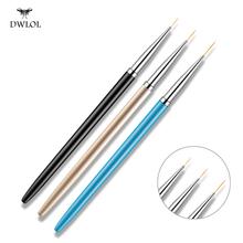 3 sztuk zestaw Nail Art Liner długopis do malowania 3D porady DIY akrylowe żel UV szczotki rysunek kwiat linia siatki narzędzia do Manicure tanie tanio DWLOL CN (pochodzenie) a set of 3 sticks MD-SMT-102 Stainless steel + nylon Szczoteczka do paznokci