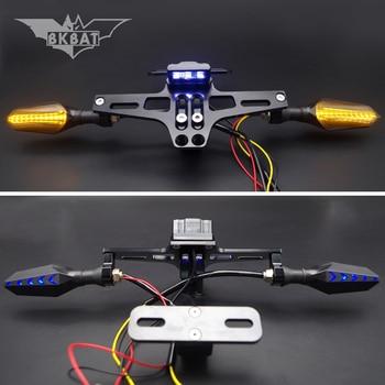 Motorcycle License Frame Bracket With LED Turn Signal Light For kawasaki zzr 600 zzr 400 z900 ex650 vn800 vn 1500 ninja 400