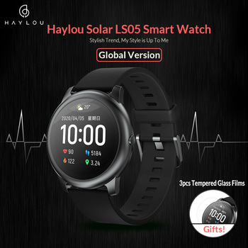 Haylou Solar Smart Watch LS05 Sport Metal Heart Rate Sleep Monitor IP68 Waterproof iOS Android Global Version from Youpin 1