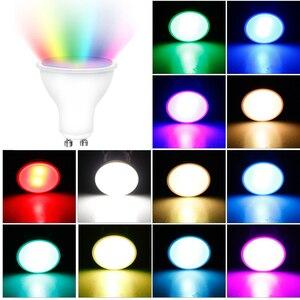 Image 2 - GU10 RGB LED ampul 8W IR uzaktan kumanda AC 85 265V atmosfer aydınlatma 16 renk değiştirilebilir dekoratif işıklar sıcak beyaz