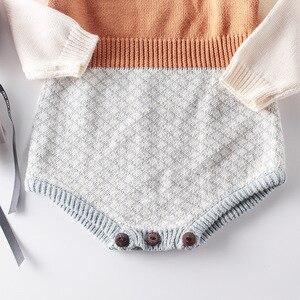 Image 4 - 2009 Nieuwe Baby Meisje Bodysuits Retro Colour Gebreide Kleding Bottom Gewikkeld Horsewear En Kruipen Kleding